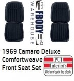 1969 Camaro Front Seat Covers Deluxe Comfortweave PAIR