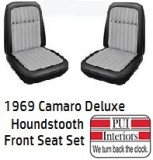 1969 Camaro Front Seat Covers Deluxe Houndstooth PAIR