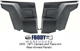 1970 - 1971 Camaro and Trans Am Deluxe Rear Armrest Panels NEW