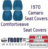 1970 Camaro Deluxe COMFORTWEAVE Front & Rear Seat Covers LOW BACK