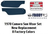 1970 Camaro Sun Visors New 8 Colors To Choose From Pair