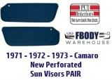 1971 - 1973 Camaro Sun Visors New 7 Colors To Choose From Pair