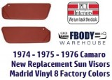 1974 - 1977 Camaro Sun Visors New 8 Colors To Choose From Pair