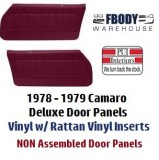 1978 - 1979  Camaro NON-Assembled Door Panels Deluxe Interior