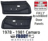 1978 - 1981 Camaro FULLY Assembled Door Panels Standard Various Colors Available!