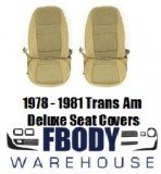 * 1978 - 1981 Trans Am Deluxe Seat Covers Upholstery Cloth Hobnail or Lombardy 4 Colors Available!