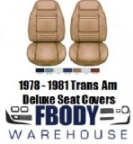 * 1978 - 1981 Trans Am Deluxe Seat Cover Upholstery Vinyl Seat Covers 8 Colors Available!