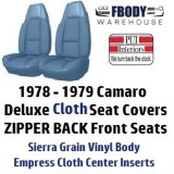 1979 Camaro Deluxe Cloth Seat Covers Berlinetta Z28