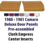 1980 - 1981  Camaro NON-Assembled Door Panels Deluxe Interior w/ Cloth Inserts