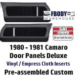 1980 - 1981  Camaro Pre-Assembled Door Panels Deluxe Interior w/ Cloth