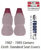 1982 - 1985 Camaro Standard Seat Covers CLOTH