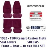 1982 - 1983 Camaro Deluxe Seat Covers CLOTH