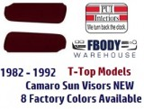 1982 - 1992 Camaro Sun Visors New 10 Colors T-Top / Convertible