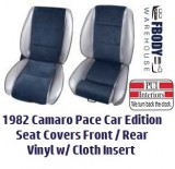 1982 Camaro Pace Car Seat Covers LEATHER w/ Cloth Insert