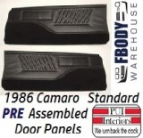 1986 Camaro Standard Door Panels FULLY Assembled