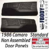 1986 Camaro Standard Door Panels NON Assembled