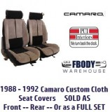 1988 - 1992 Camaro Deluxe Seat Covers CLOTH