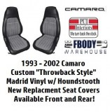 "1993 - 2002 Camaro Deluxe Seat Covers ""Throwback Houndstooth Style"""