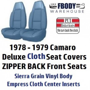 1979 Camaro High Back Seat Covers Deluxe Cloth Pui