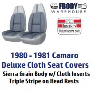 1980 1981 Camaro High Back Seat Covers Deluxe cloth PUI ...